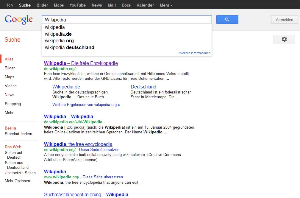 Suchanfragen Google