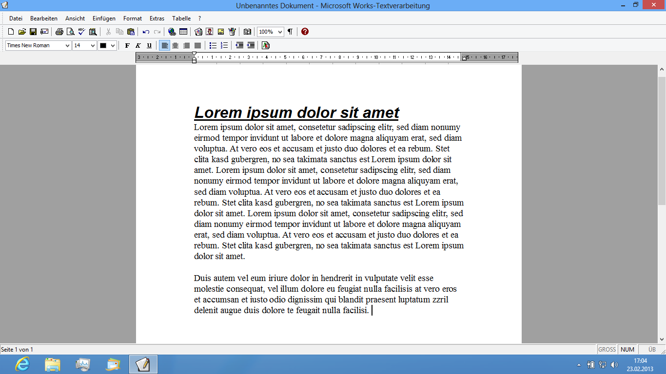 works textverarbeitung