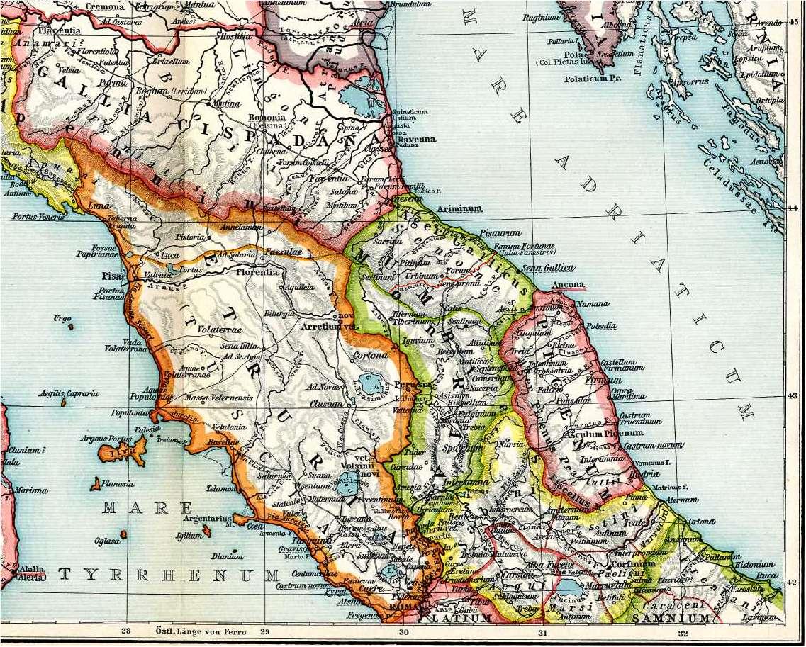 Italien Nördlicher Teil Karte 10 F. W. Putzgers Historischer Schul-Atlas, 1905.jpg