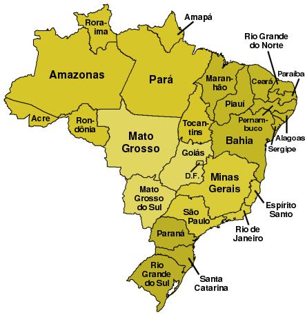 brasilien karte bundesstaaten Datei:Bundesstaaten Brasiliens.png – Wikipedia