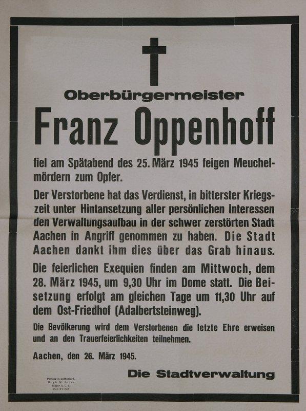 Afbeeldingsresultaat voor Franz Oppenhoff