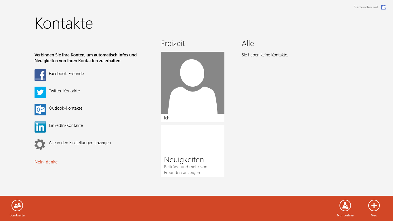 Windows 8 Kontakte