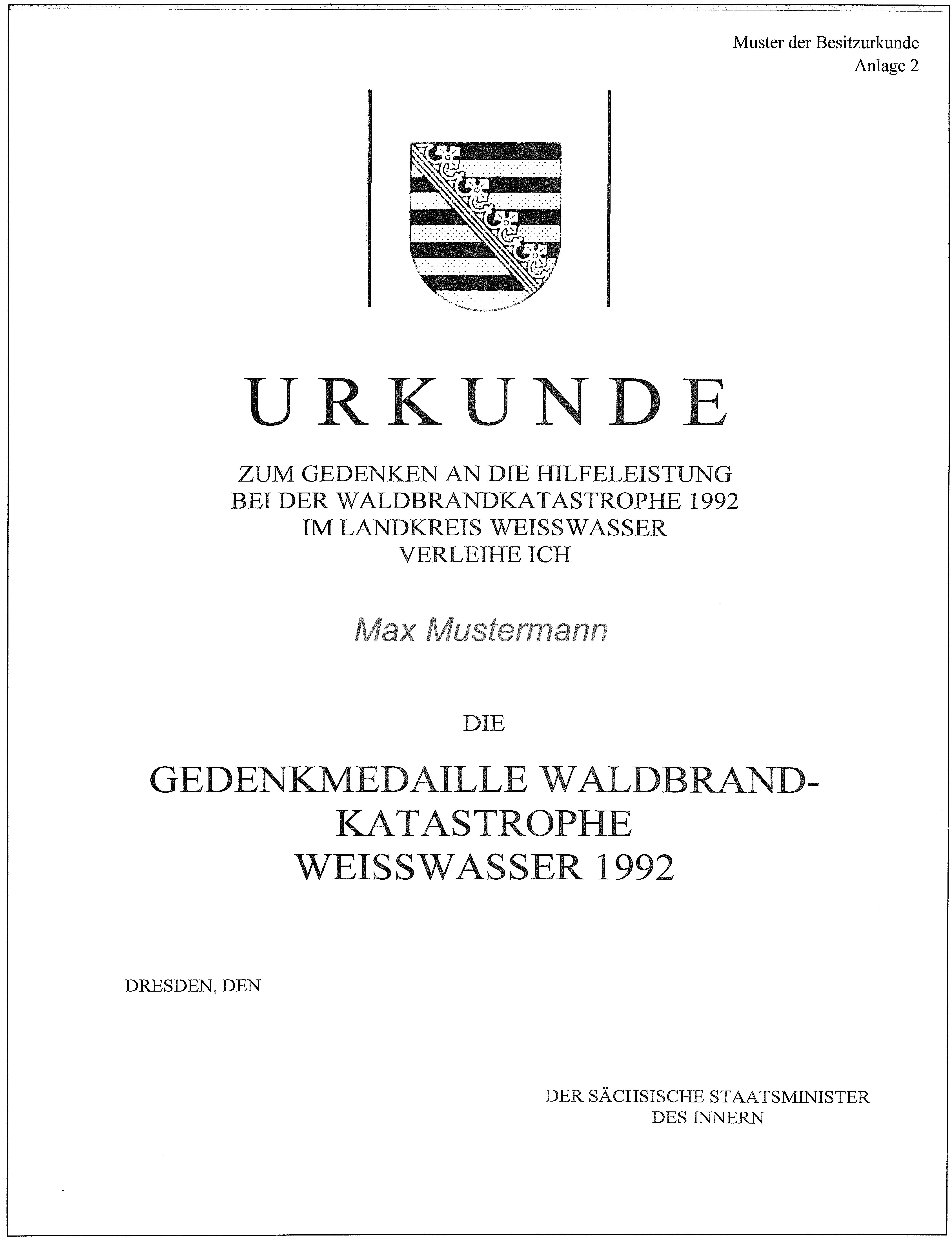 Datei:Verleihungsurkunde Waldbrandkatastrophe Weißwasser.jpg – Wikipedia