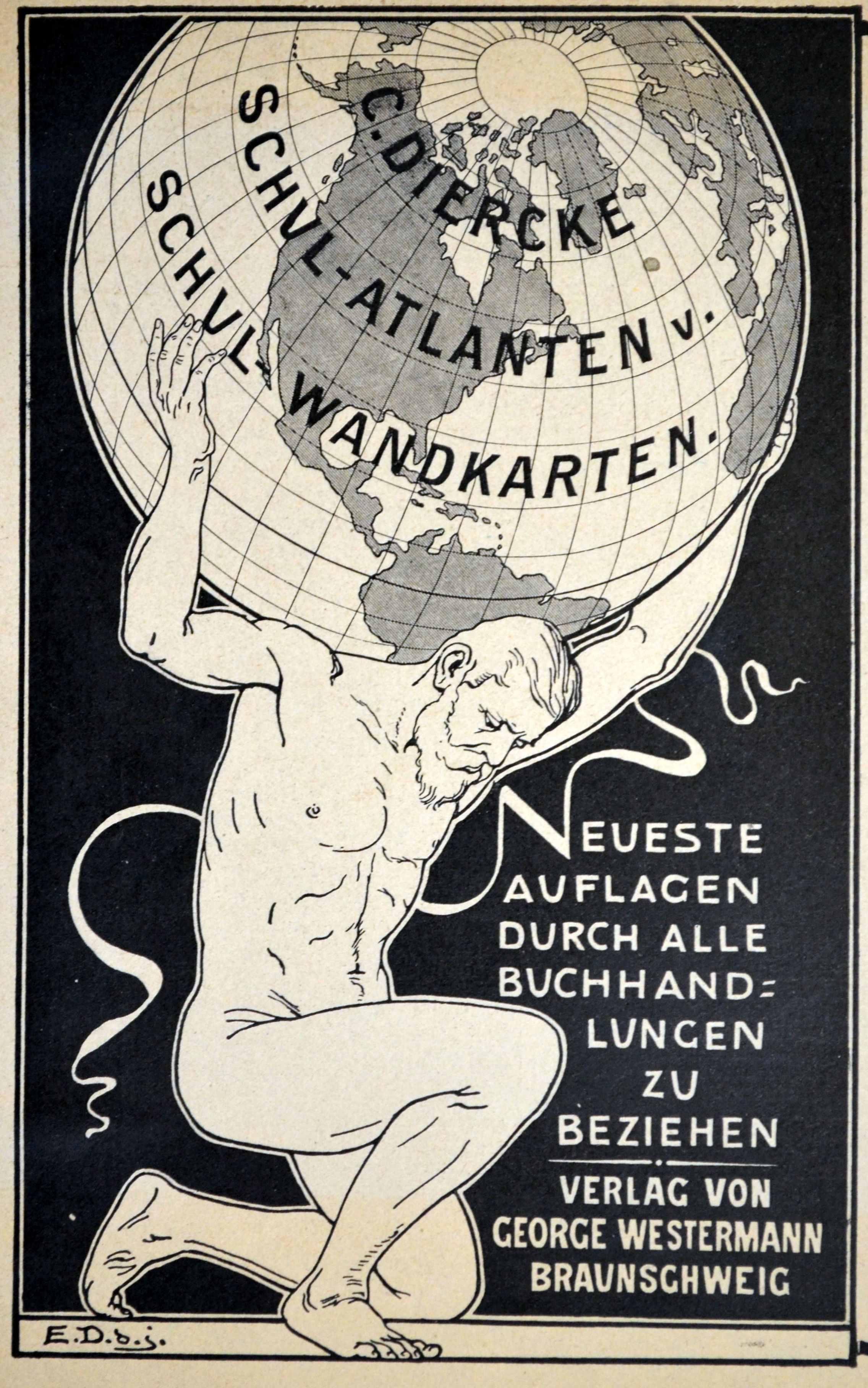 Datei Diercke Schulwandkarten Erster Prospekt 1903 Ua Westermann