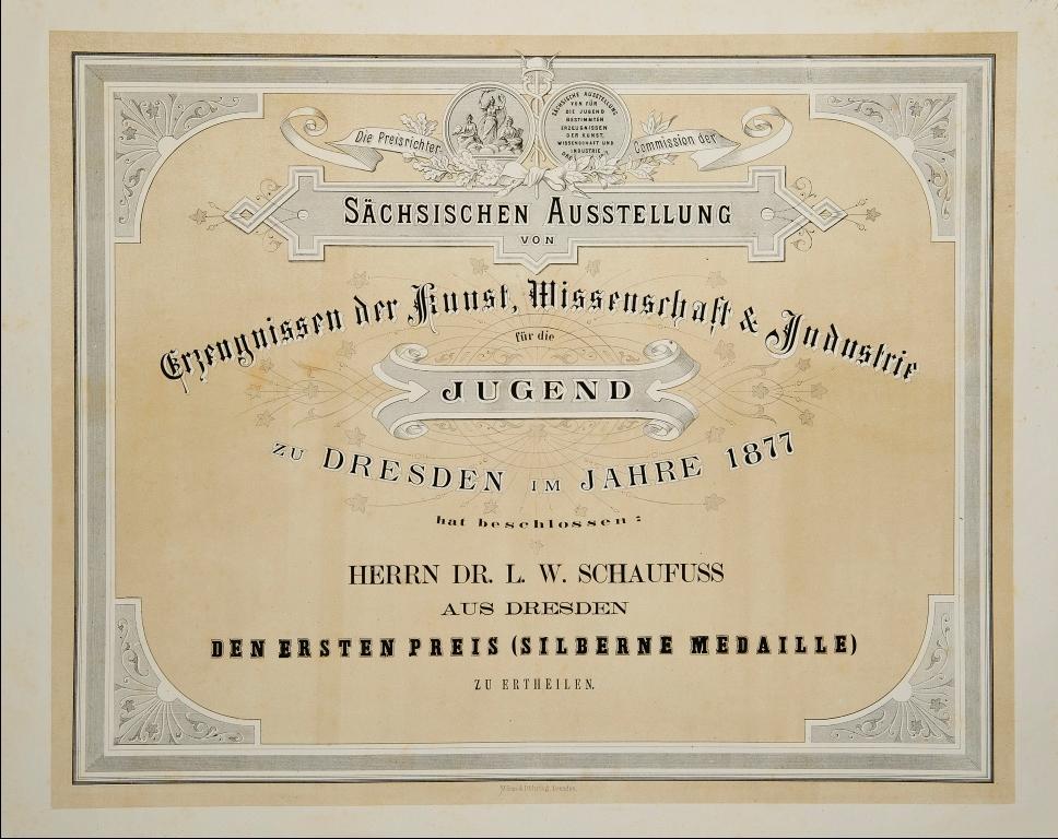 Dateiurkunde An L W Schaufuß 1877jpg Wikipedia