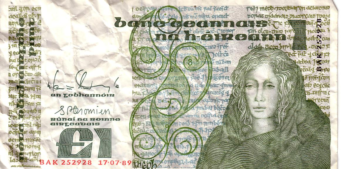 Irish Pound Note Queen Medb