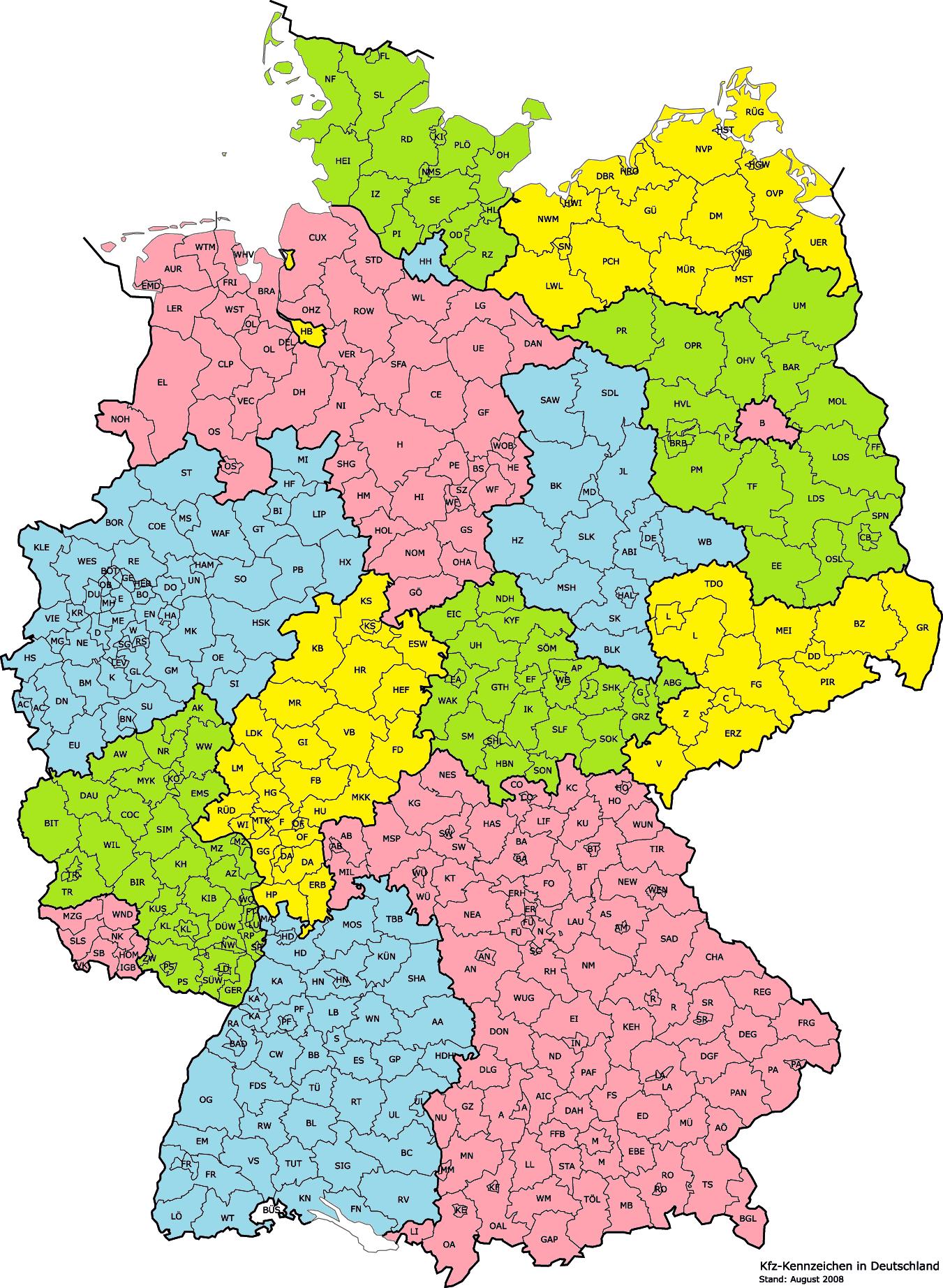Deutschland Karte Landkreise