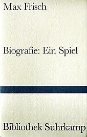 cover der buchausgabe von biografieein spiel des suhrkamp verlages - Max Frisch Lebenslauf