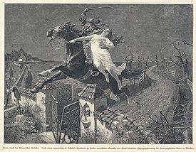 Illustration zu Lenore von Frank Kirchbach (1896). (Quelle: Wikimedia)