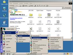 "Screenshot with opened start menu and ""My Computer"" window"