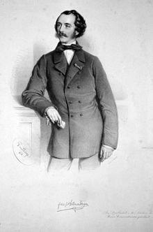 Joseph Hellmesberger sen., Lithographie von Adolf Dauthage, 1858 (Quelle: Wikimedia)