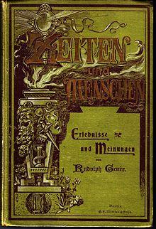 Genées Memoiren Zeiten und Menschen (1897) (Quelle: Wikimedia)