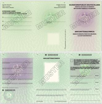 ankunftsnachweis - Asylantrag Muster