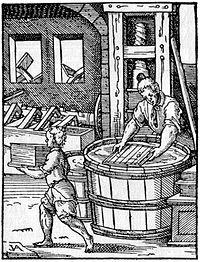 Der Papyrer aus Jost Ammans Ständebuch, 1568