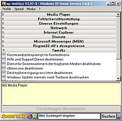 XP-Antispy unter Windows XP