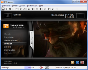 Screenshot von DVBViewer