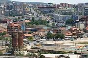 Blick ins Stadtzentrum von Priština