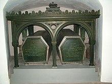 Grabmal von König Max I. und Königin Karoline in der Gruft der Theatinerkirche München (Quelle: Wikimedia)