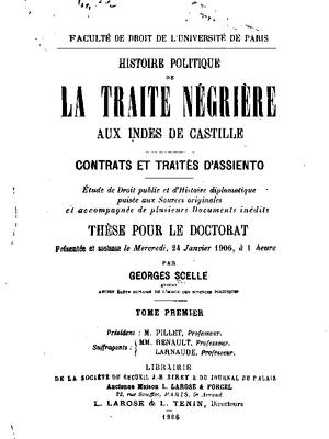 Titelseite der Dissertationsschrift von Georges Scelle
