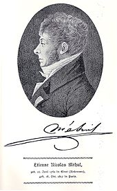 Étienne-Nicolas Méhul, Stich von Heinrich Eduard Winter (Quelle: Wikimedia)
