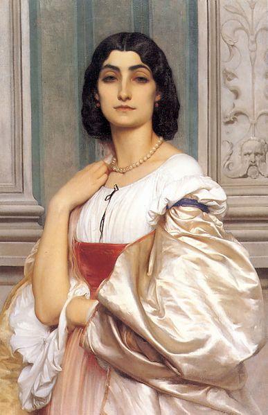 Datei:A Roman Lady La Nanna 1858-9 80x52cm (1).jpg