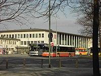 Busse der WSB und der privaten Hammer GmbH am Würzburger Busbahnhof
