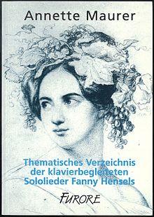 Katalog der Lieder Fanny Hensels, 1997 (Quelle: Wikimedia)