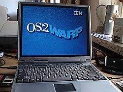 Bootscreen OS / 2 Warp 4 on a notebook