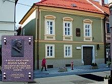 Geburtshaus mit Gedenktafel in Slovenj Gradec (Windischgrätz) (Quelle: Wikimedia)