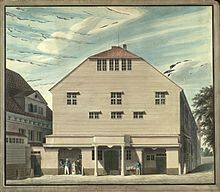 Altes Theater am Gänsemarkt in Hamburg bis 1827 (Quelle: Wikimedia)