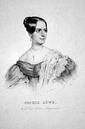 Sophie Löwe, Lithographie von Leopold Fischer, um 1840 (Quelle: Wikimedia)