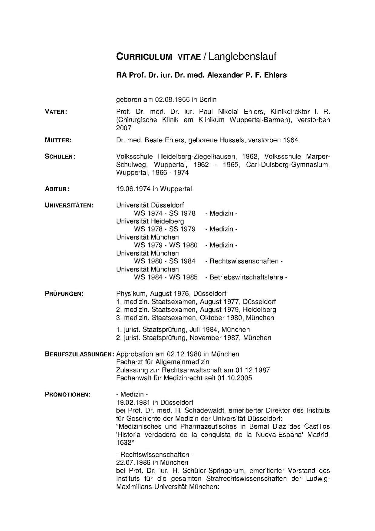 Datei Prof Ehlers CV Pdf –