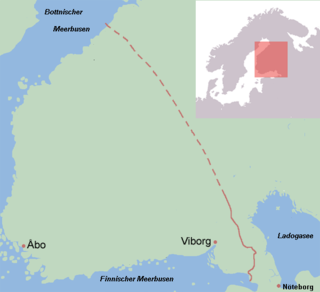 The border line after the Treaty of Nöteborg