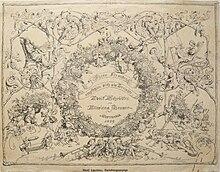 Verlobungsanzeige Alwine Heuser und Adolf Schröder, September 1839 (Quelle: Wikimedia)