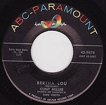 Clint Miller's Bertha Lou on ABC Paramount