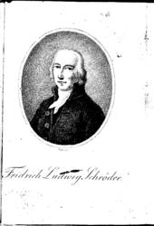Friedrich Ludwig Schröder, Porträt im Almanach[1] (Quelle: Wikimedia)