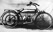 Motorrad um 1930 mit Ilo-Motor