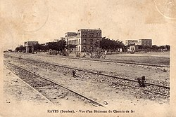 Railway facilities in Kayes, around 1905