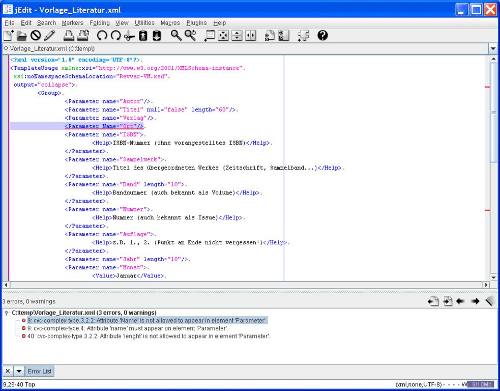 Datei:XML-Validation jEdit.png – Wikipedia