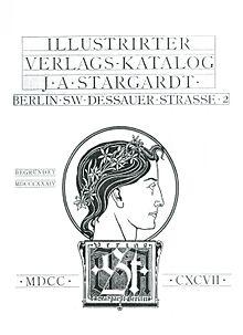 Verlagskatalog von J. A. Stargardt, 1897. Gestaltet von Joseph Sattler (Quelle: Wikimedia)