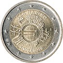 €2 commemorative coin San Marino 2012.jpg
