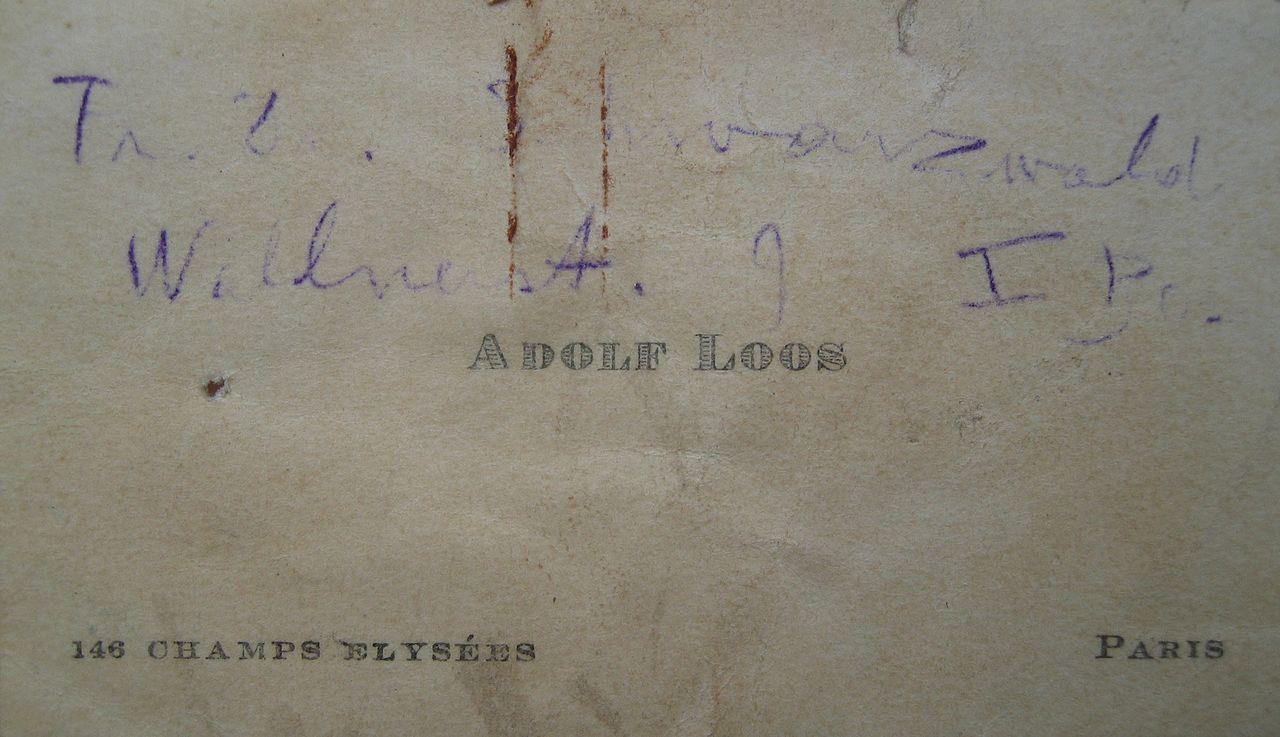 Datei Adolf Loos Visitenkarte Jpg Wikipedia