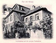 Lortzings Wohnhaus in Leipzig 1844–1846 (Quelle: Wikimedia)