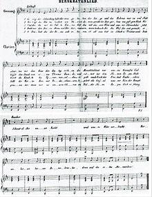 """""""Demokratenlied"""" – komponiert und wohl auch getextet von Johanna Kinkel – erstmals vorgetragen am 5. Dezember 1848 (Quelle: Wikimedia)"""