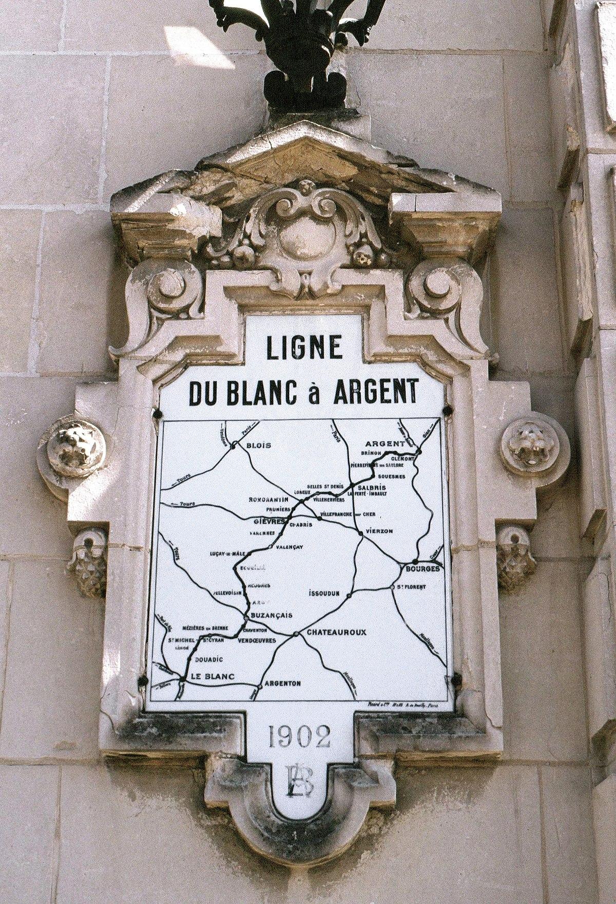 chemin de fer du blancargent � wikipedia