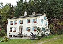 Haus in Sils-Maria, in dem Nietzsche während der<br /> Sommermonate 1881–1888 ein Zimmer bewohnte
