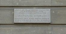 Grabstelle Antonio Vivaldis in Wien (Quelle: Wikimedia)