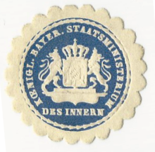 Siegel Kgl. Staatsministerium des Innern.png