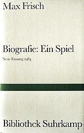 buchcover der neufassung von 1984 - Max Frisch Lebenslauf