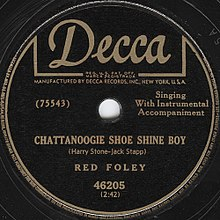 Chattanoogie Shoe Shine Boy Red Foley